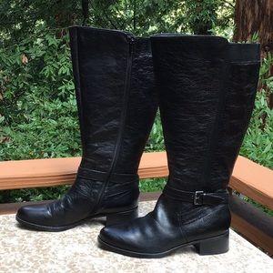 Naturalizer WIDE CALF Black Boots Sz 10.5